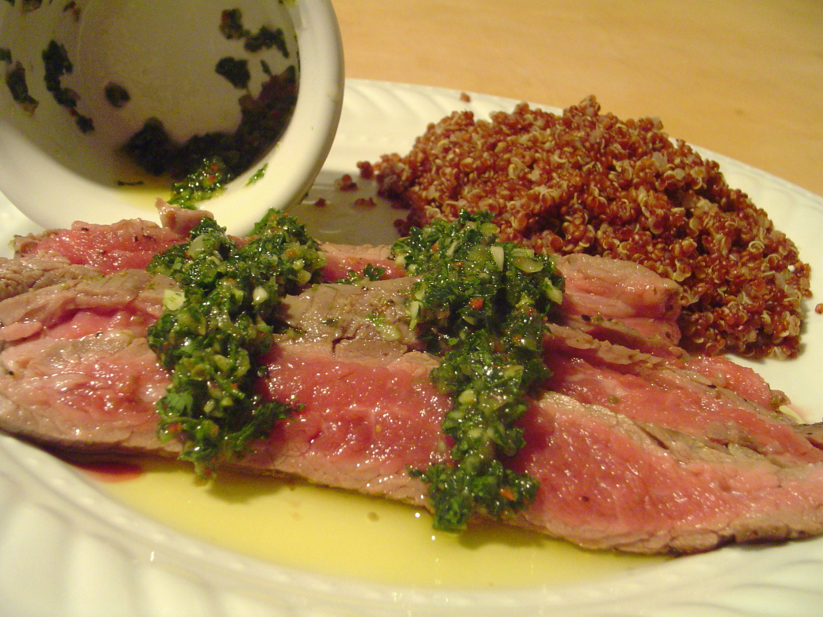 Grilled Flat Iron Steak With Chimichurri Sauce Recipe — Dishmaps